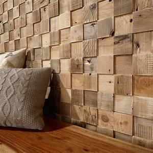 Panneau Bois Decoratif : panneau d coratif en bois mural textur cube timberwall decoration murale bois sculpte mikea ~ Teatrodelosmanantiales.com Idées de Décoration