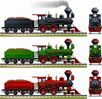 Train Steam Cartoon Vector Locomotive Graphic Engine