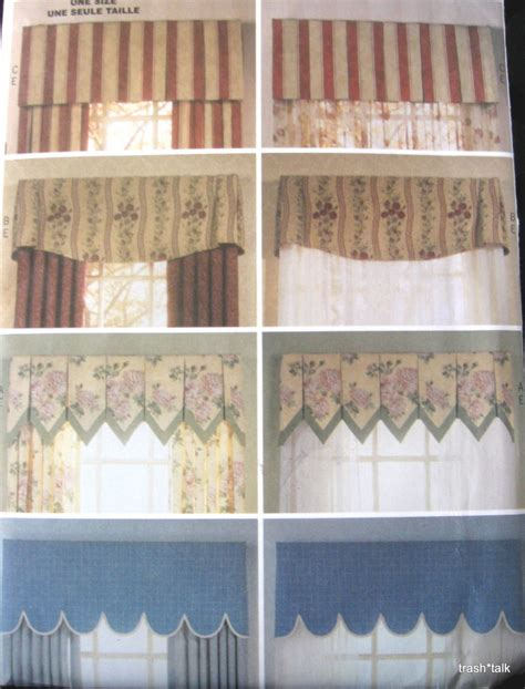 waverly valance sewing pattern window treatment home decor