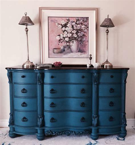 relooker un bureau en bois sloan custom color called peacock finished in 2