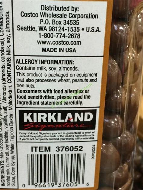 kirkland signature chocolate almonds  ounce jar