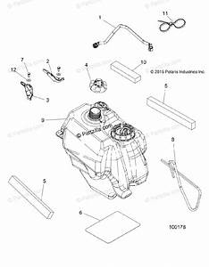 Polaris Atv 2016 Oem Parts Diagram For Body  Fuel Tank Asm