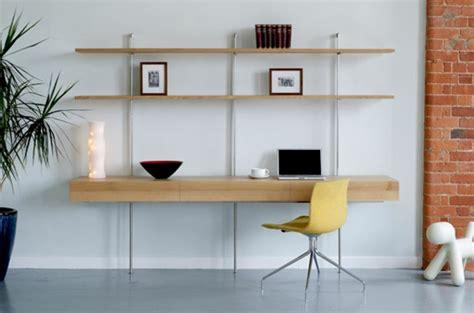 bureau bois et fer le bureau avec étagère designs créatifs archzine fr