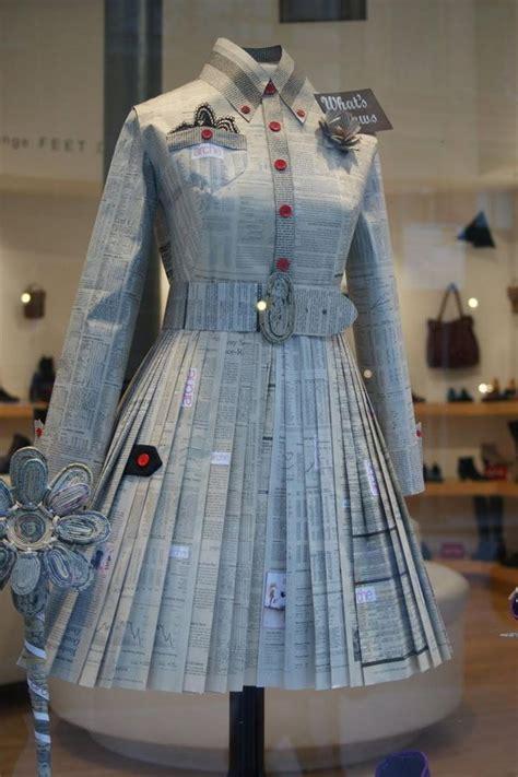 creative newspaper craft fashion ideas hative