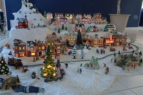 xmas village display setups genes snow village pictures