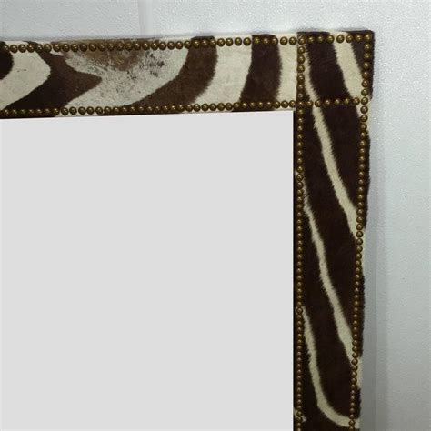 zebra floor mirror large zebra hide mirror for sale at 1stdibs