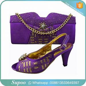 Newest African Italian Matching Shoes Bags Lady Handbag