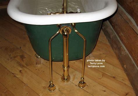 clawfoot tub water supply flex terry love plumbing