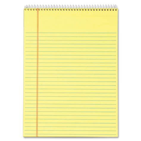 wirebound note pad yellow mkatebcom