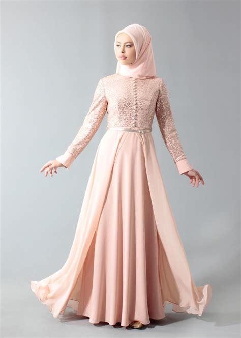 gamis baju muslim pesta wanita hijau 35 model gamis brokat kombinasi polos simpel dan modis
