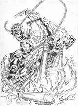 Rider Ghost Coloring Ausmalbilder Skull Bangali Superheroes Desenhos Drawing Printable Wars Adults Zum Fantasma Colorir Motoqueiro Geisterfahrer Movie Popular sketch template