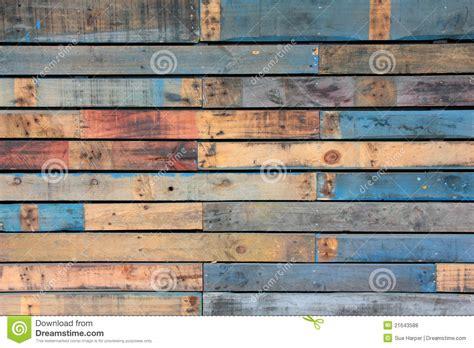 De Blauwe Achtergrond Van Het Hout Stock Foto