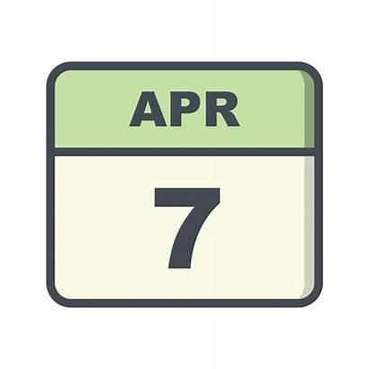 April Calendar 7th Date Single Vector Clipart
