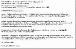 Rechnung Directpay : warnung zahlungsaufforderung von der firma directpay24 ~ Themetempest.com Abrechnung