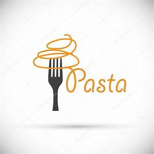 Logo fork with pasta — Stock Vector © shekaka #81419678