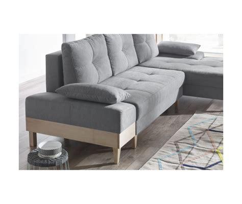 canape d angle mistergooddeal bobochic canape d angle convertible sven i droit pieds et accoudoir en bois enjoy gris clair
