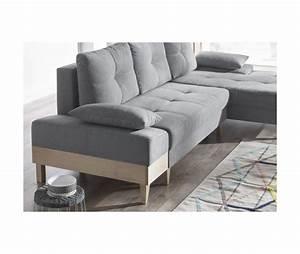 Canapé Pied Bois : canape d 39 angle convertible sven i droit pieds et ~ Melissatoandfro.com Idées de Décoration