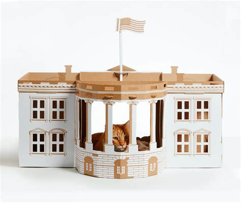 7 Cardboard Cat Houses Inspired By Famous Architectural