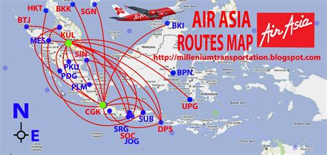 routes map air asia routes map indonesia