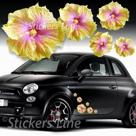 adesivi auto fiori kit adesivi fiori auto ibisco 28 pz smart fiat 500 opel