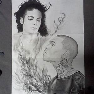 My drawing of Michael Jackson and Chris Brown. Instagram ...