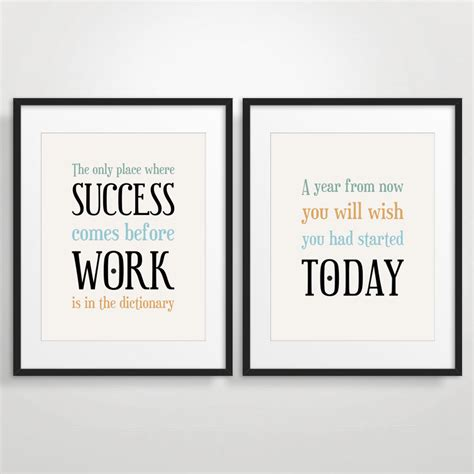 Office Decor Typography Posters Inspirational by