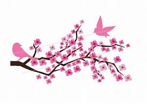 Pink Flower clipart sakura tree - Pencil and in color pink ...