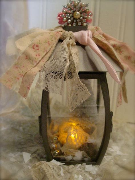 shabby chic lanterns shabby chic christmas lantern vintage trims french farmhouse home