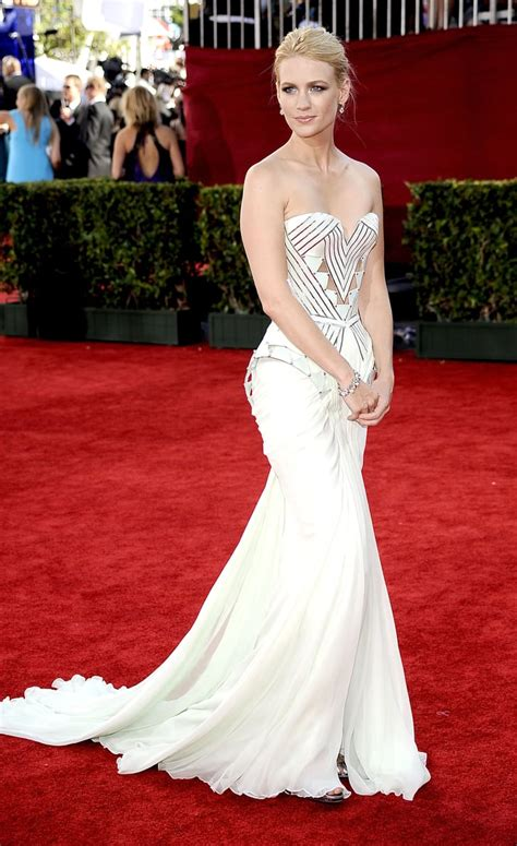 January Jones in Versace at the Emmys   Celebrities ...