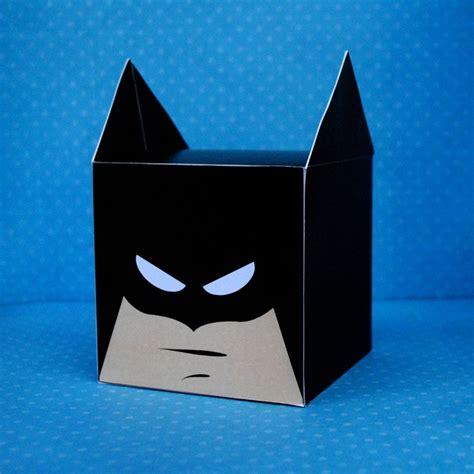 batman gift box template diy printable bat superhero cupcake holder box treat box