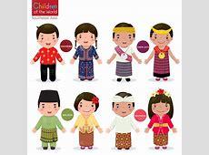 可爱的卡通各国儿童矢量素材 素材中国16素材网