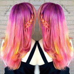 raspberry sundae hair colour inspiration rock  locks
