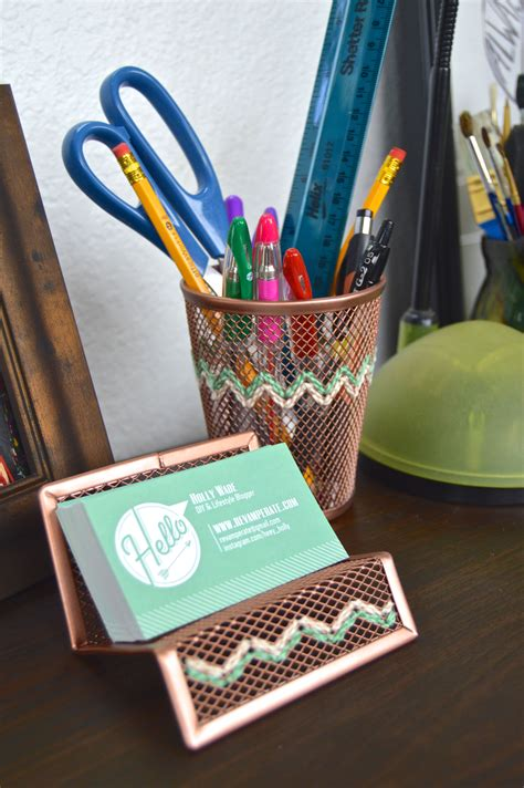 desk decor diy diy embroidered copper desk accessories reverate