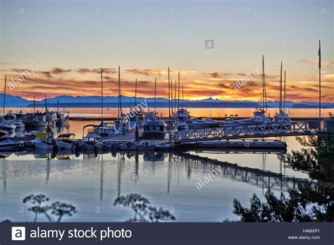 Lund Boats Vancouver Island sunset at yacht harbor of lund coast vancouver