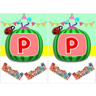 Thank you for choosing us. Bunting Banner - Cocomelon - Happy Birthday   Shopee Singapore