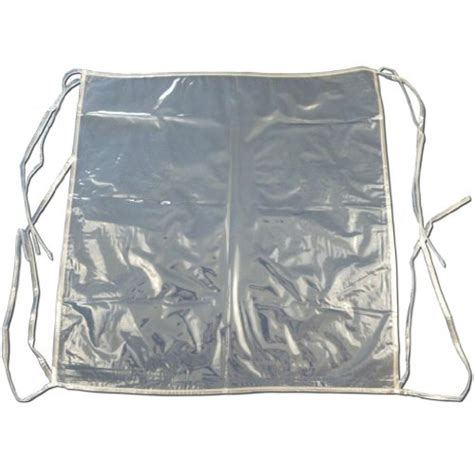 4 x clear plastic dining chair seat cushion covers