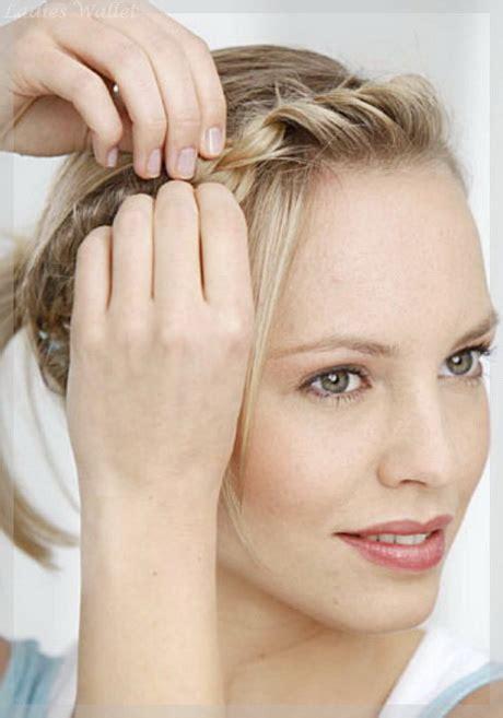 flechtfrisur kurze haare