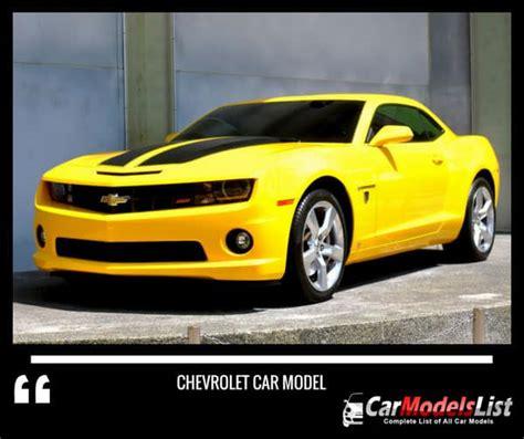 Chevrolet Model by All Chevrolet Models List Of Chevrolet Car Models