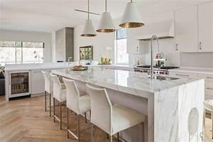 Table De Travail Marbre : cuisine en marbre banque cuisine avec armoires en bois et ~ Zukunftsfamilie.com Idées de Décoration