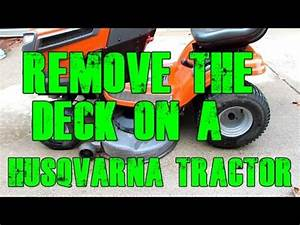 Remove    Replace The Mower Deck And Replace The Deck Belt