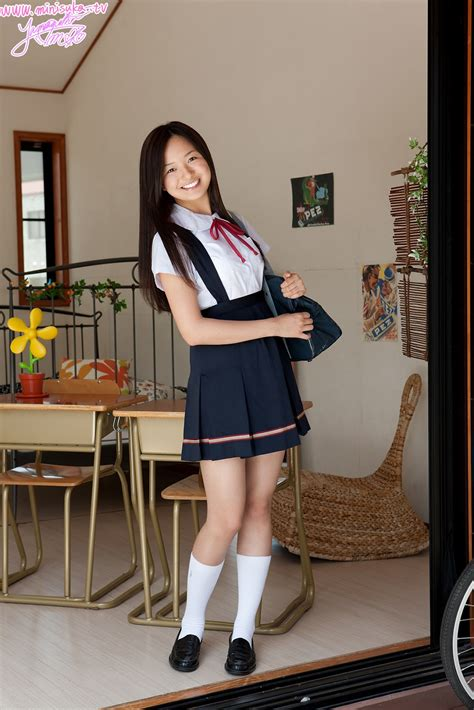 Mayumi Yamanaka Japanese Cute Idol Sexy Schoolgirl Uniform