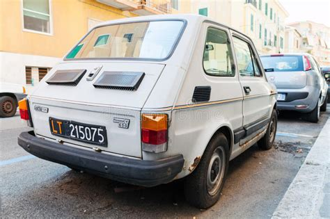 Gray Fiat 126, Type 126 Is A Small City Car Editorial
