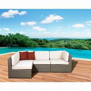 Atlantic aventura 4 piece outdoor sofa sectional gray for Walmart grey sectional sofa