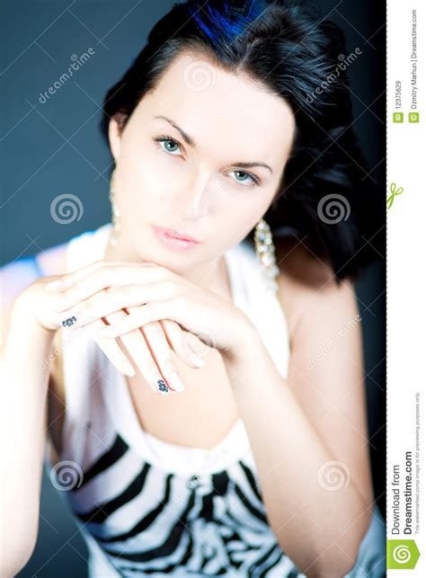 Excellent Manicure Of Young Caucasian Girl Royalty Free