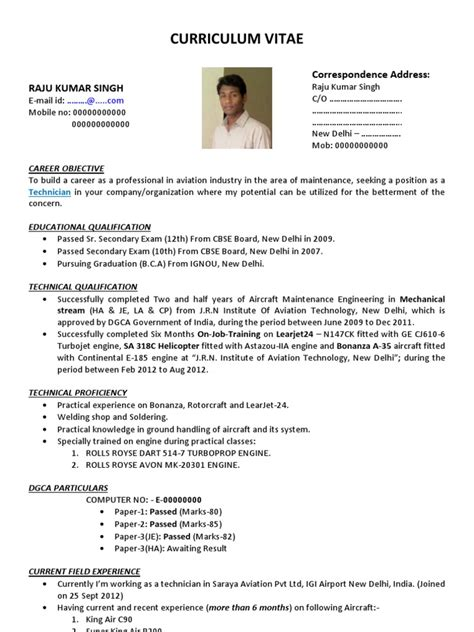 A cv or curriculum vitae format is of utmost importance as one minor mistake can lead to a bad impression on the minds of the admission board of the a cv should be at least 2 pages or more. Best Resume CV Format for AME   Delhi   New Delhi