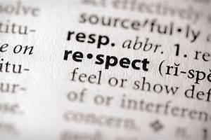 Self-Respect Fo... Respect Definition
