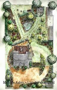 Jardin Dessin Couleur : dessin plan de jardin couleur plan de jardin pinterest ~ Melissatoandfro.com Idées de Décoration