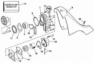 Omc Stern Drive Water Pump And Adaptor Parts For 1994 5 8l