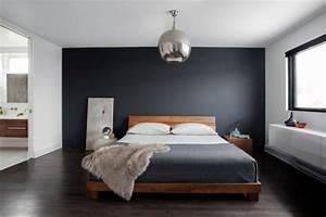 decoration chambre mur gris exemples d39amenagements With deco mur chambre adulte