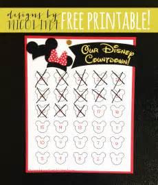 printable countdown to disney calendar calendar template